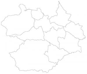 """""""Distritos de Santa Maria v2006"""" por Imagens SM - Mapa segundo a Prefeitura Municipal de Santa Maria. Licenciado sob CC BY-SA 3.0, via Wikimedia Commons - http://commons.wikimedia.org/wiki/File:Distritos_de_Santa_Maria_v2006.png#/media/File:Distritos_de_Santa_Maria_v2006.png"""