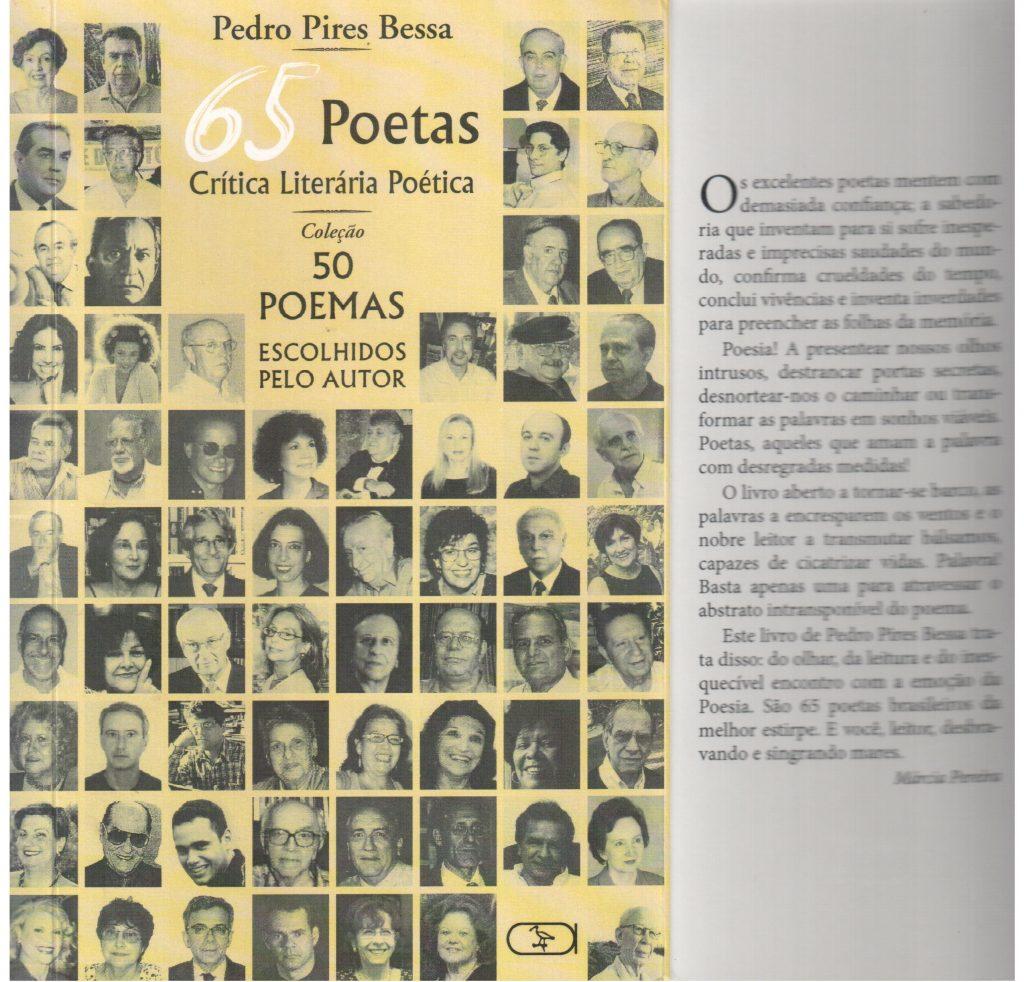 Sessenta e cinco poetas, capa e orelha 1 001