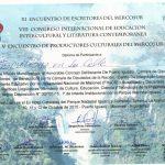 XIº Encontro de Escritores do Mercosul, Puerto Iguazú, Misiones, Argentina.