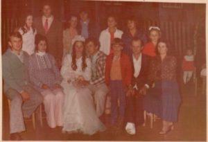 Foto de família, no casamento de José Valdemar e Lúcia