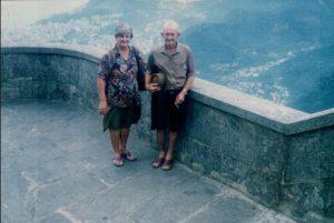 Leo Anselmo e Maria em passeio turístico