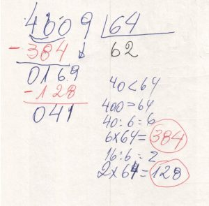 Divisão com números na chave 10