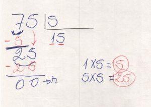 Divisão de números na chave 3