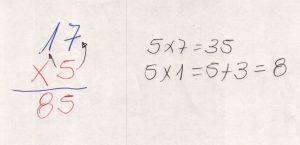 Multiplicação com fatores de vários algarismos 1