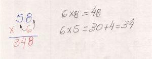 Multiplicação com fatores de vários algarismos 3