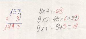 Multiplicação com fatores de vários algarismos 4