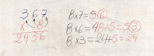 Multiplicação com fatores de vários algarismos 5