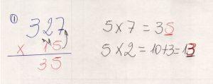 Multiplicação com fatores de vários algarismos 7.2