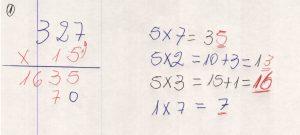 Multiplicação com fatores de vários algarismos 7.4