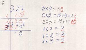 Multiplicação com fatores de vários algarismos 7.5