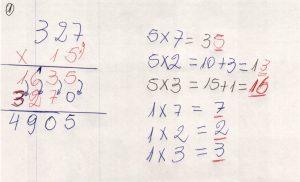 Multiplicação com fatores de vários algarismos 7.8