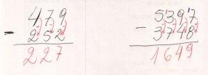 Subtração de números com vários algarismos 120160711_16415935