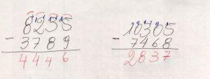 Subtração de números com vários algarismos 220160711_17243488