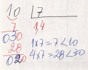 Divisão decimal periódica simples 2
