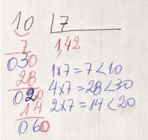 Divisão decimal periódica simples 3