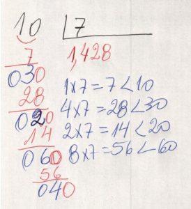 Divisão decimal periódica simples 4