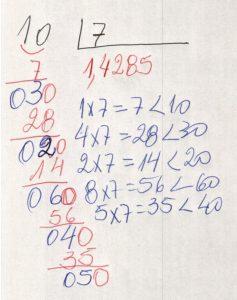 Divisão decimal periódica simples 5