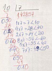 Divisão decimal periódica simples 6