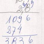 Matemática. Aritmética, Multiplicação, com vírgula.