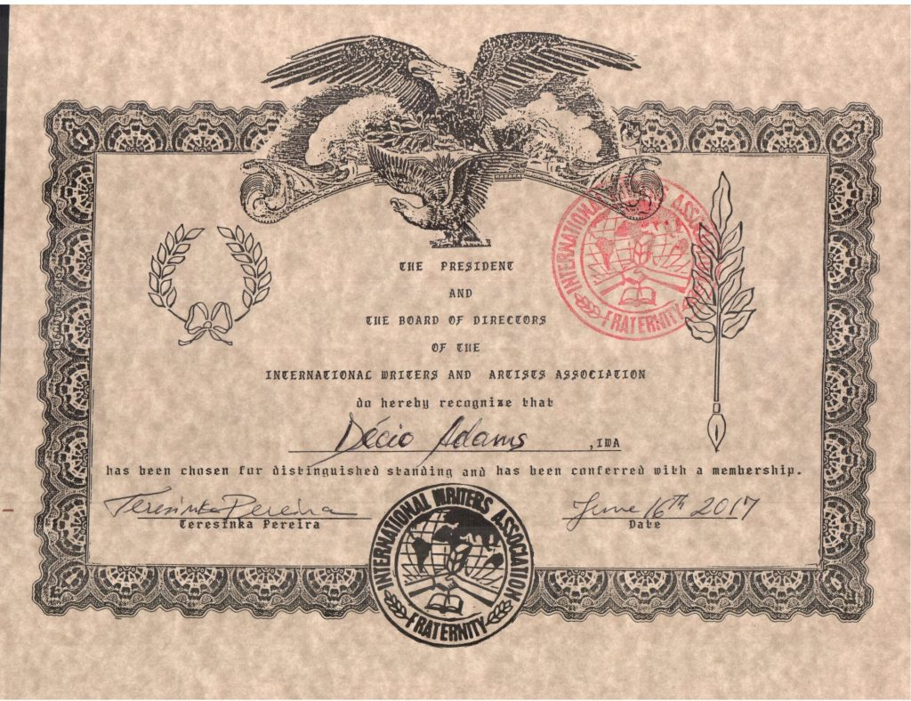 cópia do certificado de membro IWA
