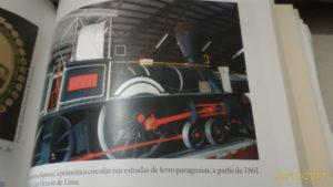 Primeira locomotiva ferroviária do Paraguai.