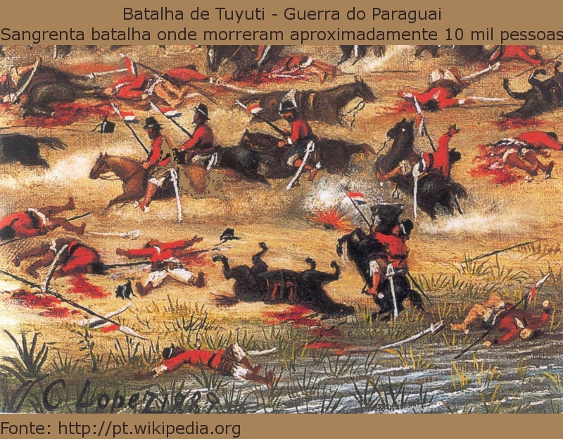 Batalha da Guerra do Paraguai.