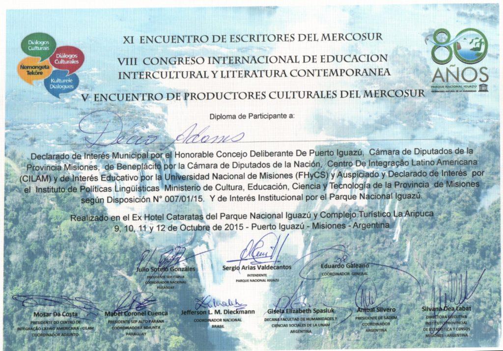 Certificado de Participante Décio20151021_20443088