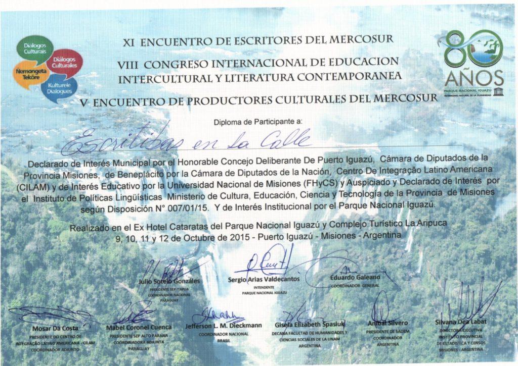 Certificado de Participante Escritibas20151021_20464752