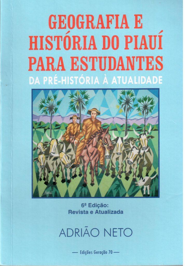 Geografia e História do Piauí para estudantes, de Adrião Néto, capa 001