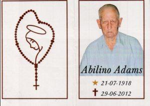 Morte de Abilino Adams