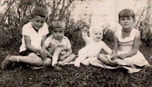 Ervídio, Tito, Terezinha e Elvenete, esquerda para direita.